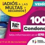 Anuncia SFA condonación de 100% en multas y recargos en trámites vehiculares