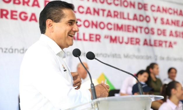Tendrá Pinzándaro, por primera vez en su historia, red de drenaje con inversión de más de 19 mdp: Gobernador