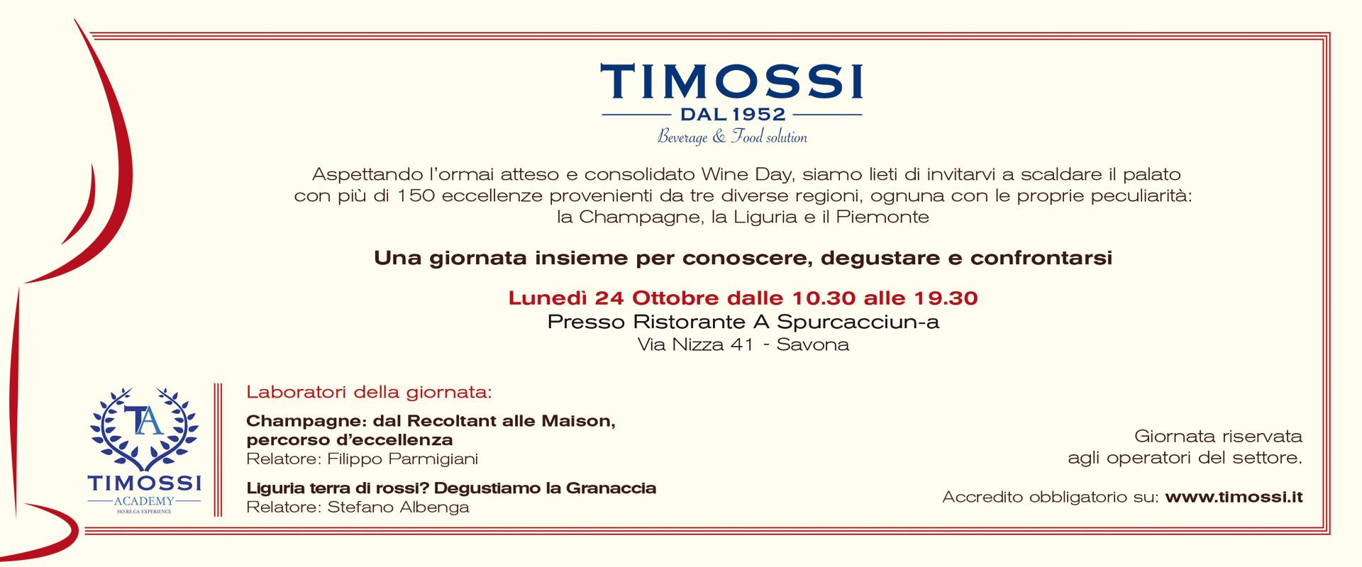 Aspettando il Wine Day, Lunedì 24 Ottobre tutti a Savona!
