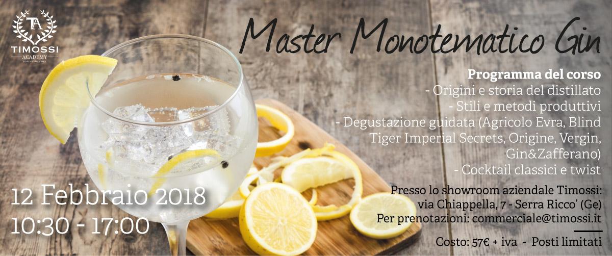 12 Feb 2018 – Master Monotematico Gin