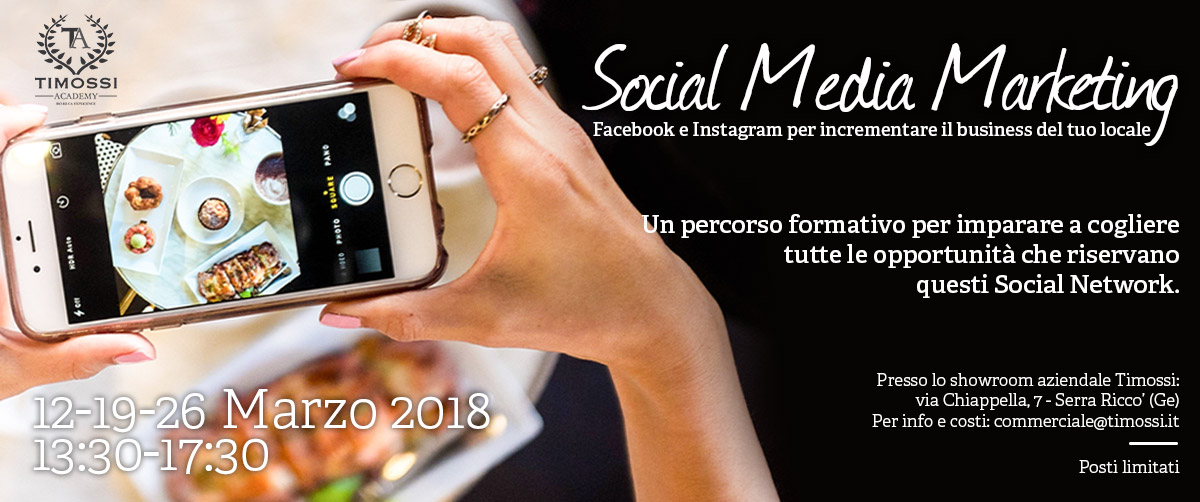 12/19/26 Mar 2018 – Social Media Marketing: Facebook e Instagram per incrementare il business del tuo locale