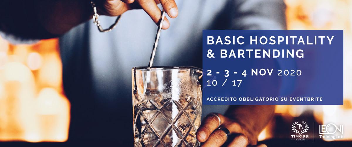 2 – 3 – 4 Nov 2020 – Basic Hospitality & Bartending