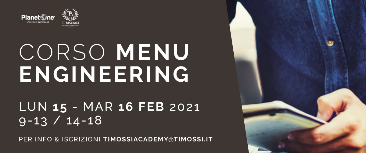 15 / 16 Feb 2021 – Corso Menu engineering