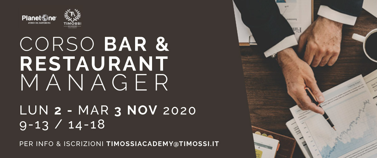 2 / 3 Nov 2020 – Corso Bar & Restaurant Manager