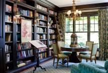 Floor to Ceiling Bookshelves Home Library