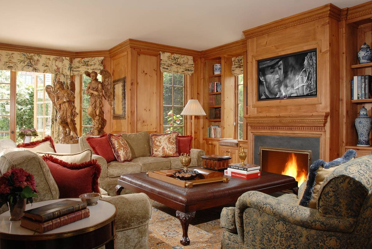 Libraries and Family Rooms  Interior Design Photo Gallery