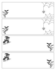 Halloween Nameplates
