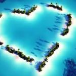 heart shaped islands