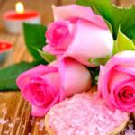pink roses candles