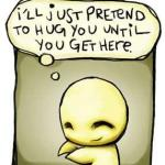 love cartoon hug