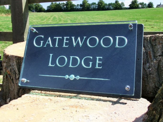 Glass House Number Name Plaque Engraved Sandblasted Glass House Names Gatewood Lodge