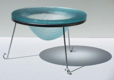 Kiln Formed Decorative Glass Drop Bowl 2