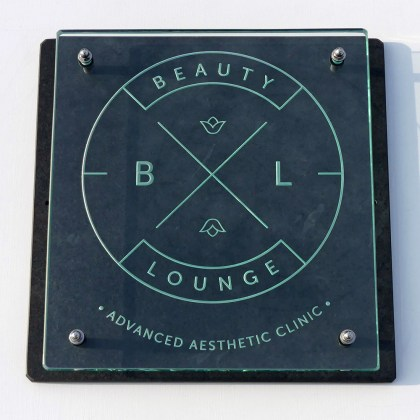 Business Sign Engraved Glass Slate Bl Tim Carter