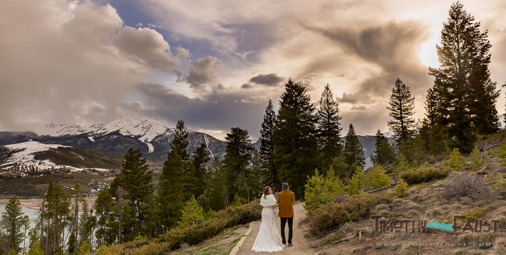 Bride and father at a Breckenridge Colorado Wedding