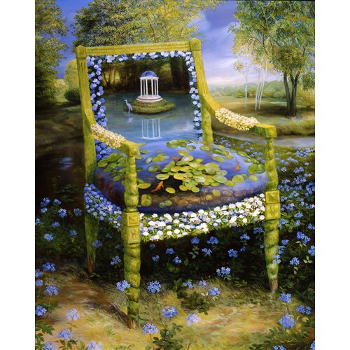 Topiary Chair Series - Lilypads & Gazebo