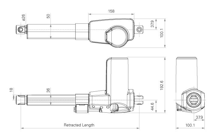 Linear Actuators-TA15 Series-TiMOTION Technology