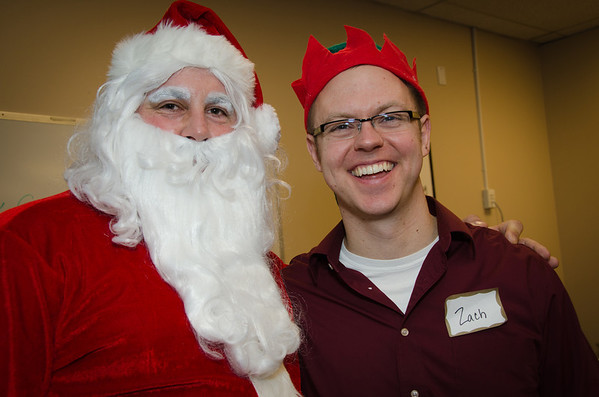 Zach and Santa