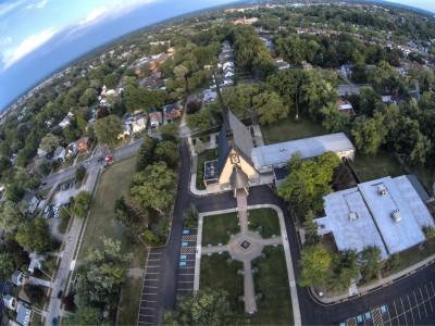 """Catedrala Ortodoxa Romana """"Sf. Maria"""" - vedere aeriană"""