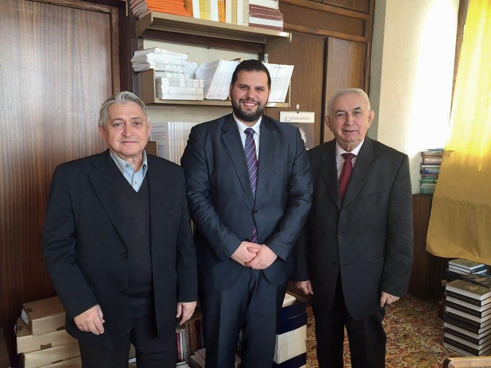 """Ministrul Stoenescu a discutat cu conducerea Institutului de Lingvistică """"Iorgu Iordan"""" despre importanța cercetărilor academice privind românii de pretutindeni și unitatea limbii române la nord şi la sud de Dunăre"""