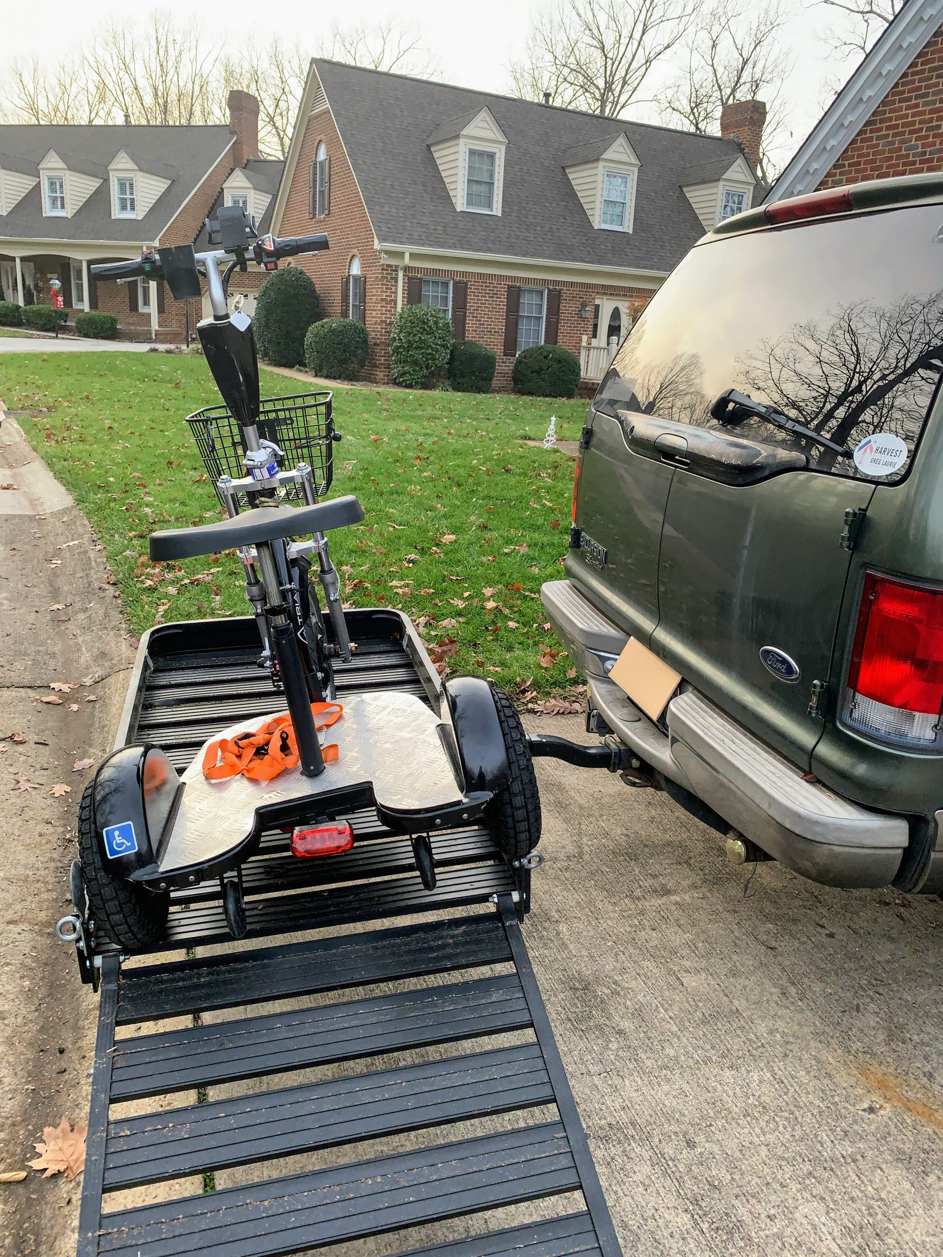 Triad on a Mobility Scooter Carrier