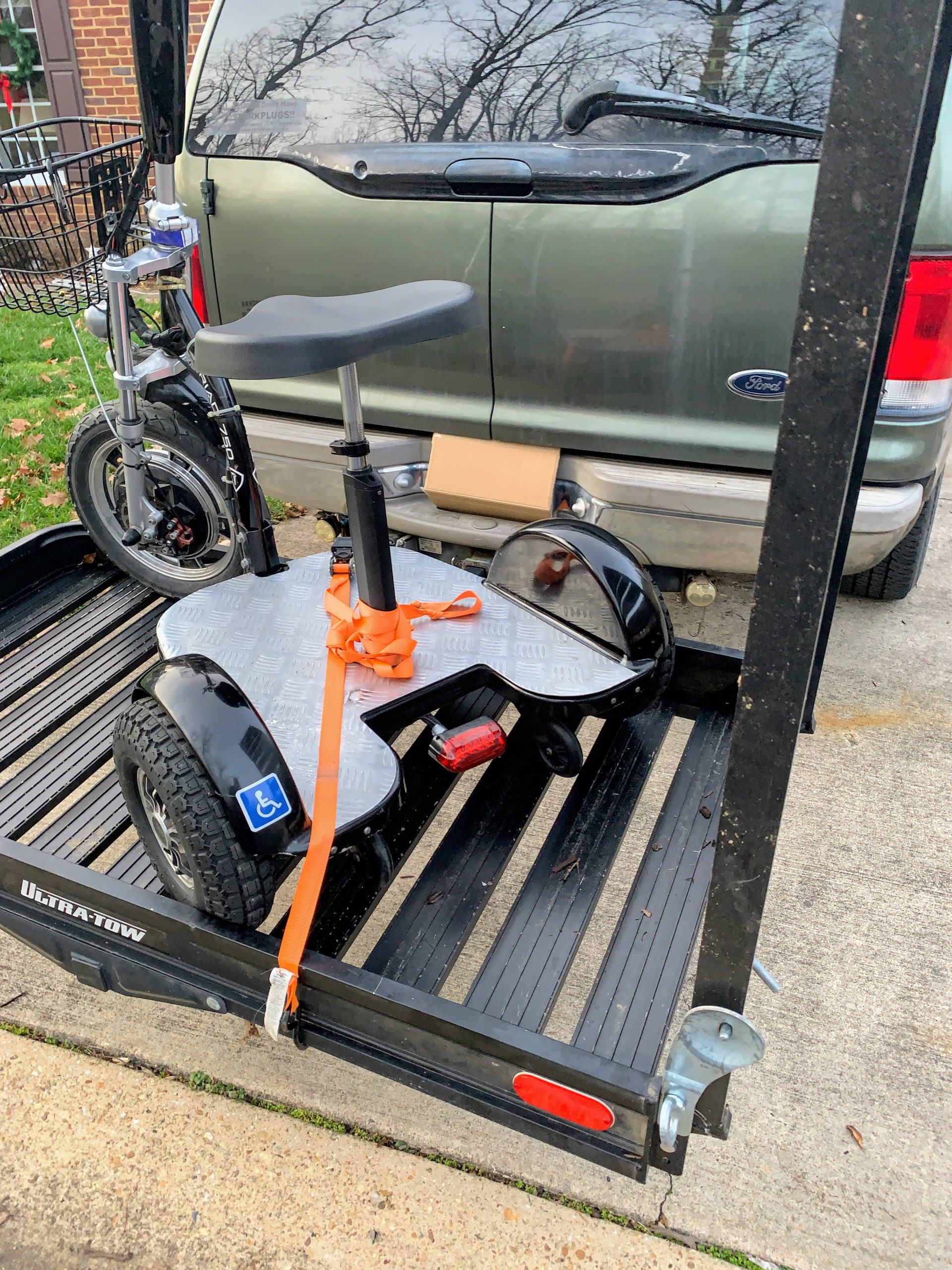 Triad Secured on a mobility scooter carrier