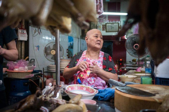 Duck seller in Chinatown, Bangkok