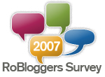 RoBloggers Survey 2007