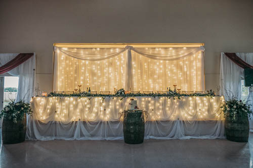 chair cover rentals durham region christopher knight home leather recliner club tim s party centre and special event page elegant head table backdrop with lights