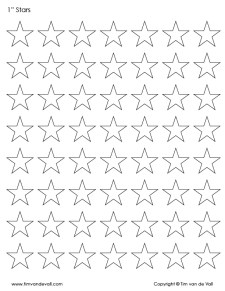 1 inch star printable shapes
