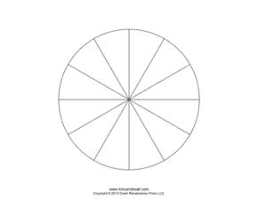 12 piece pie chart template