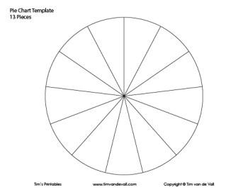 13 piece pie chart template