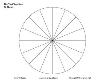 16 piece pie chart template