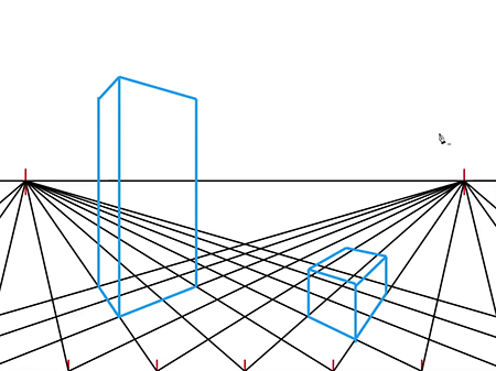 How to Draw a Two Point Perspective Grid