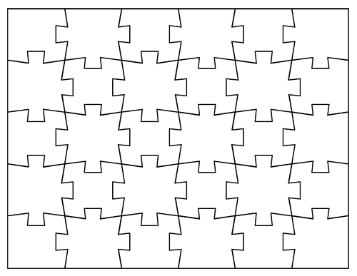 Magic image for free printable puzzle pieces template