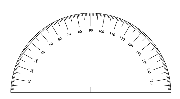 Free Printable Protractor Template for Artists