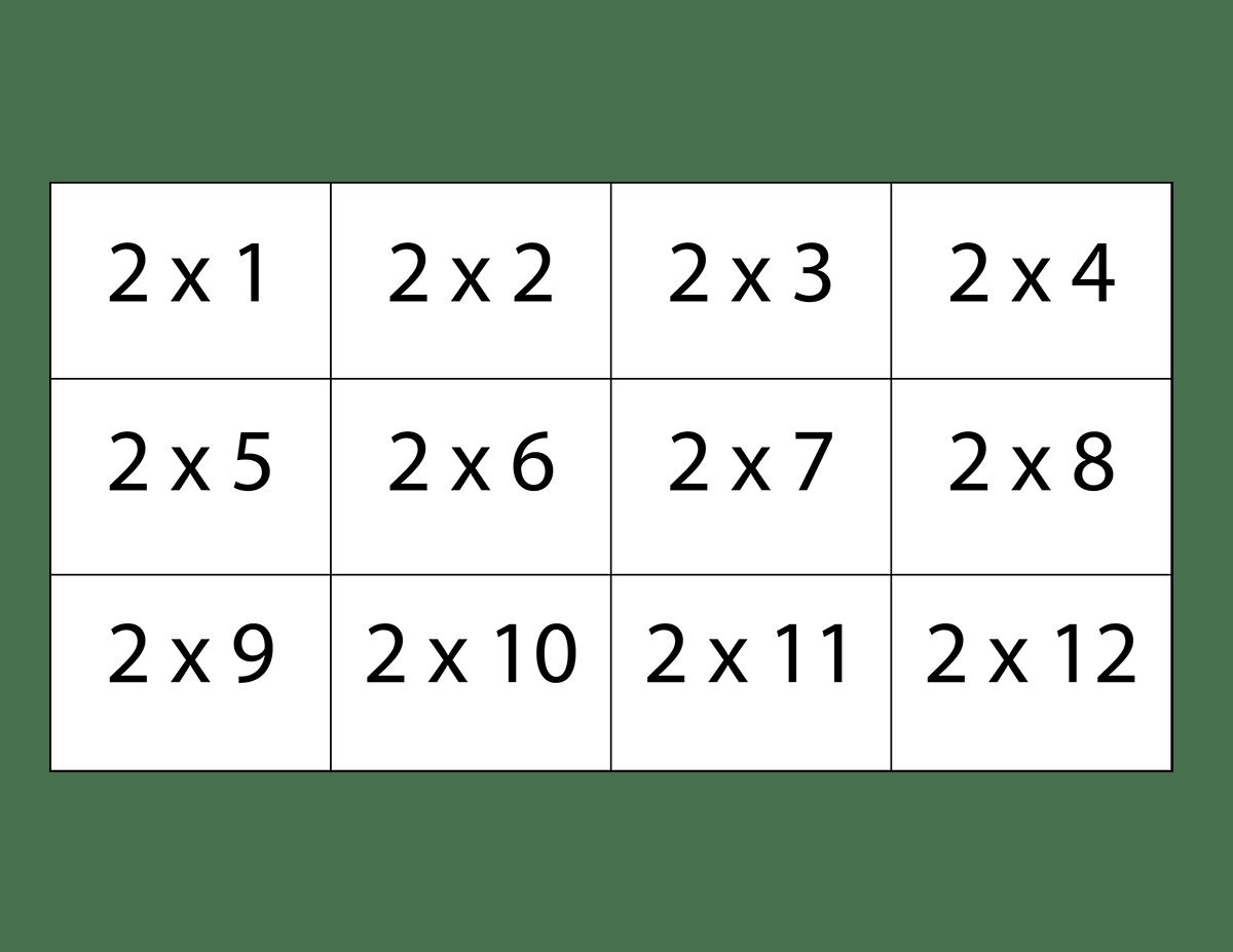 Free Printable Multiplication Flash Cards For Kids