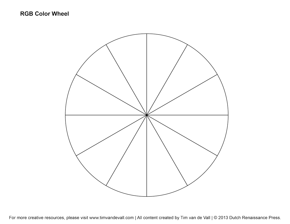 Rgb Color Wheel Hex Values Amp Printable Blank Color Wheel Templates