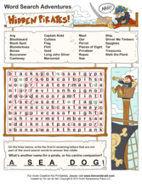 word search answer key