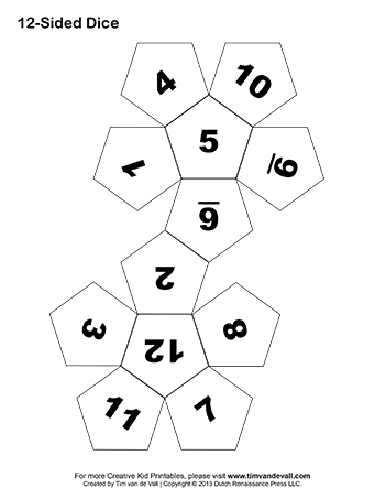 Printable Paper Dice Template Pdf: Make Your Own 6, 10