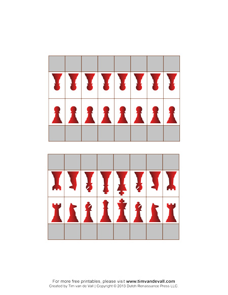 Printable Chess Pieces