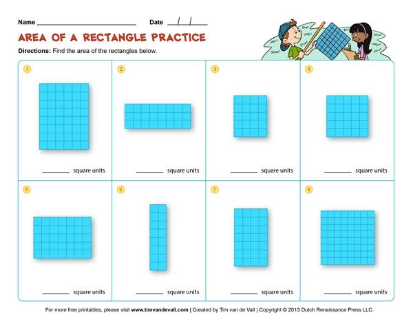 Area And Perimeter Worksheets - Third Grade Math Worksheets
