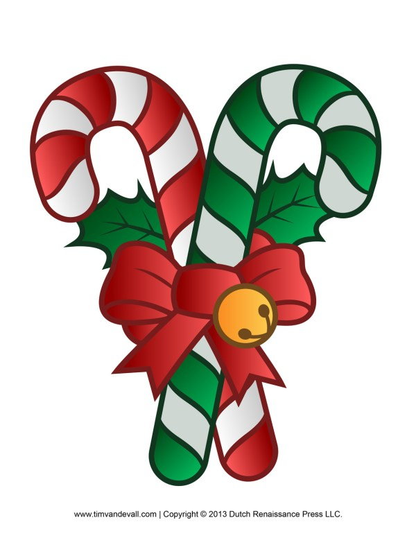 free candy cane template printables