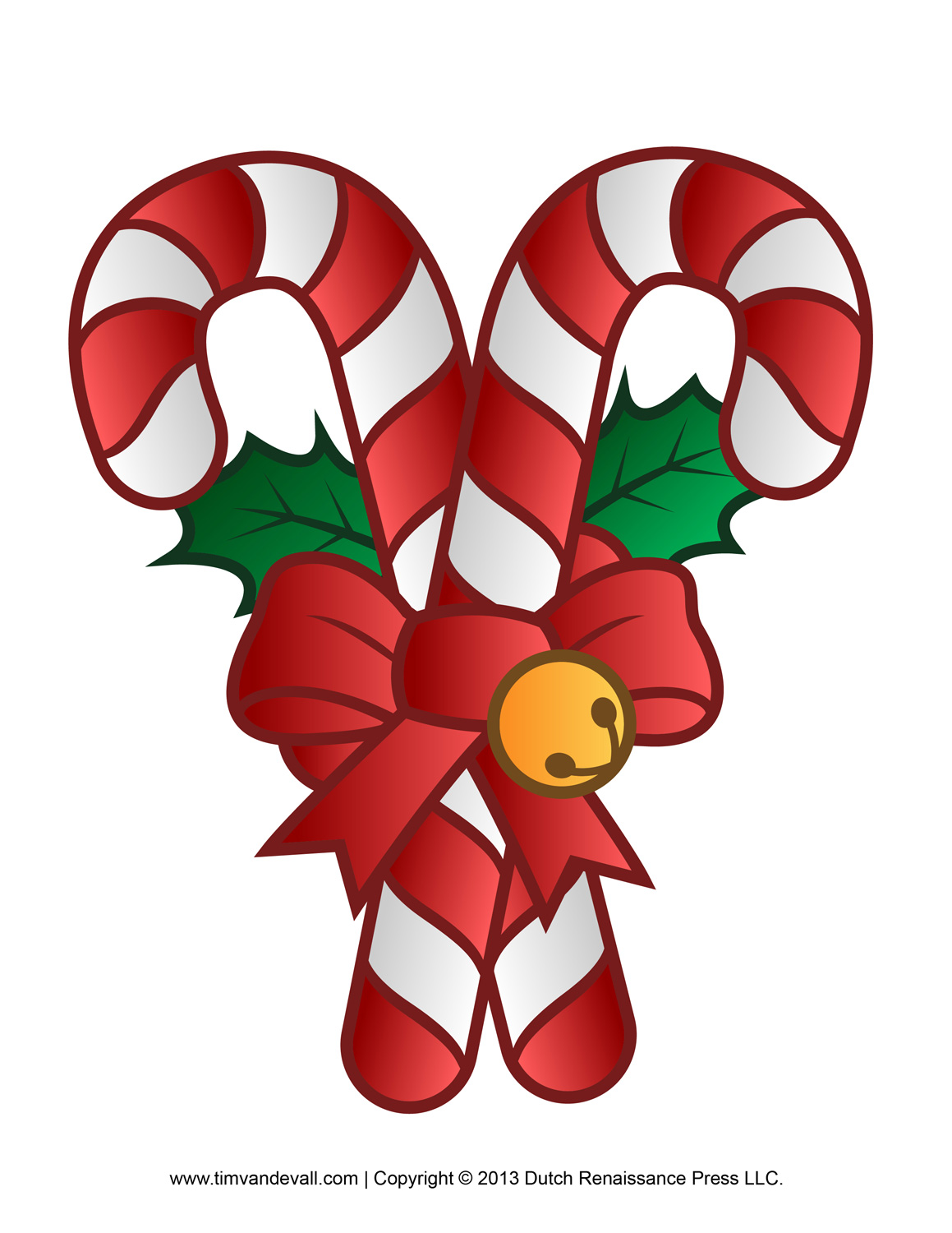 Free Candy Cane Template Printables Clip Art Amp Decorations