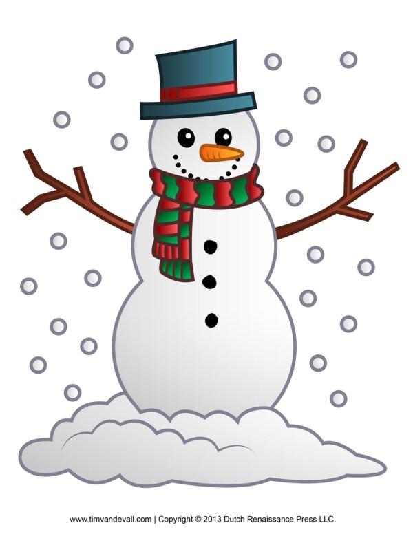 free snowman clipart template