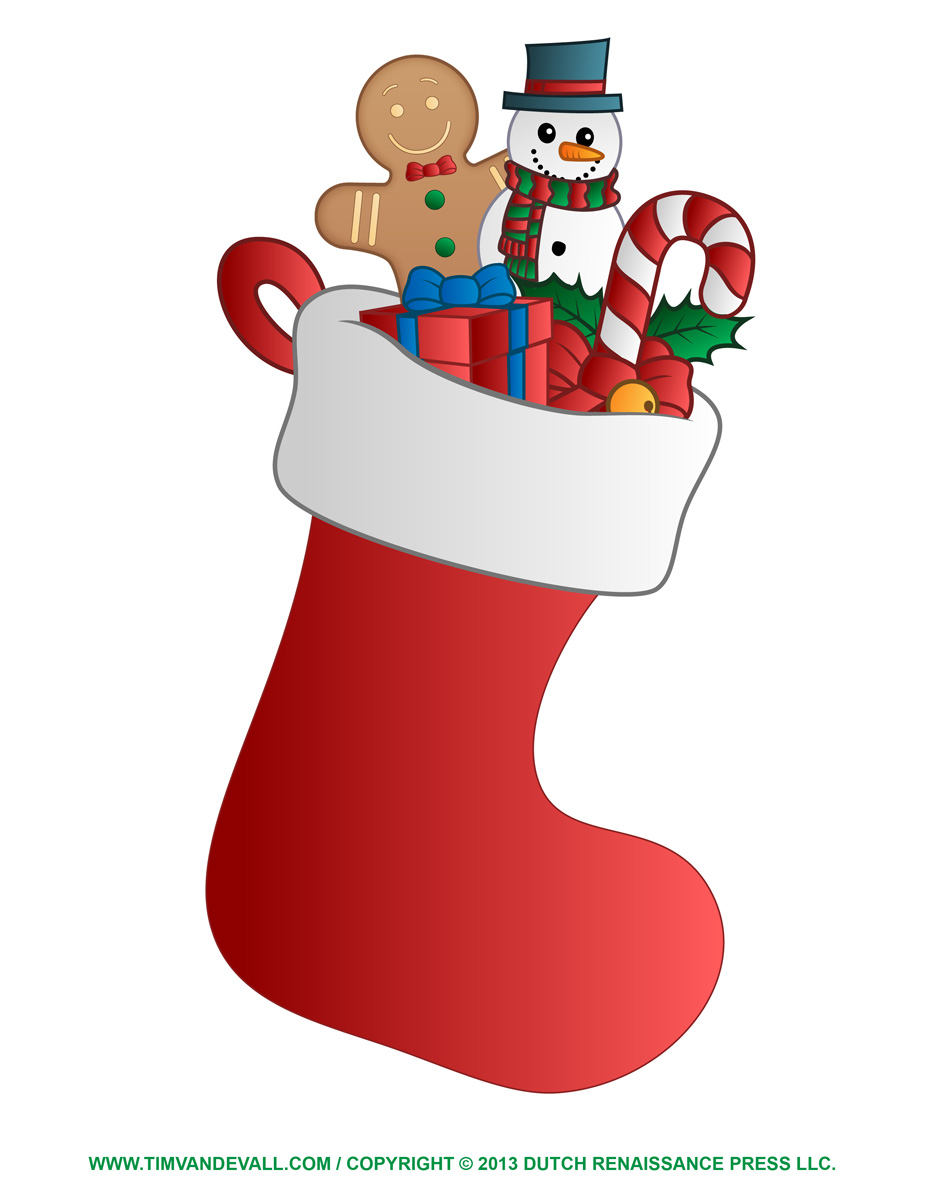 Free Christmas Stocking Template, Clip Art & Decorations