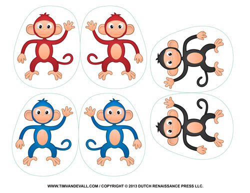 Printable Monkey Clipart Coloring Pages Cartoon & Crafts