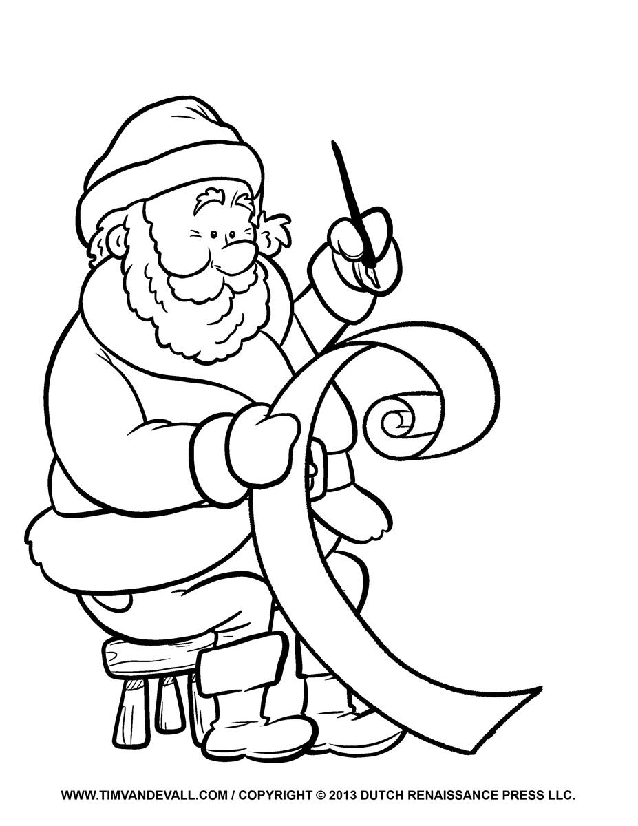 Free Santa clip art, pictures, coloring pages & letter