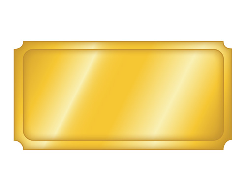 Blank Golden Ticket Template