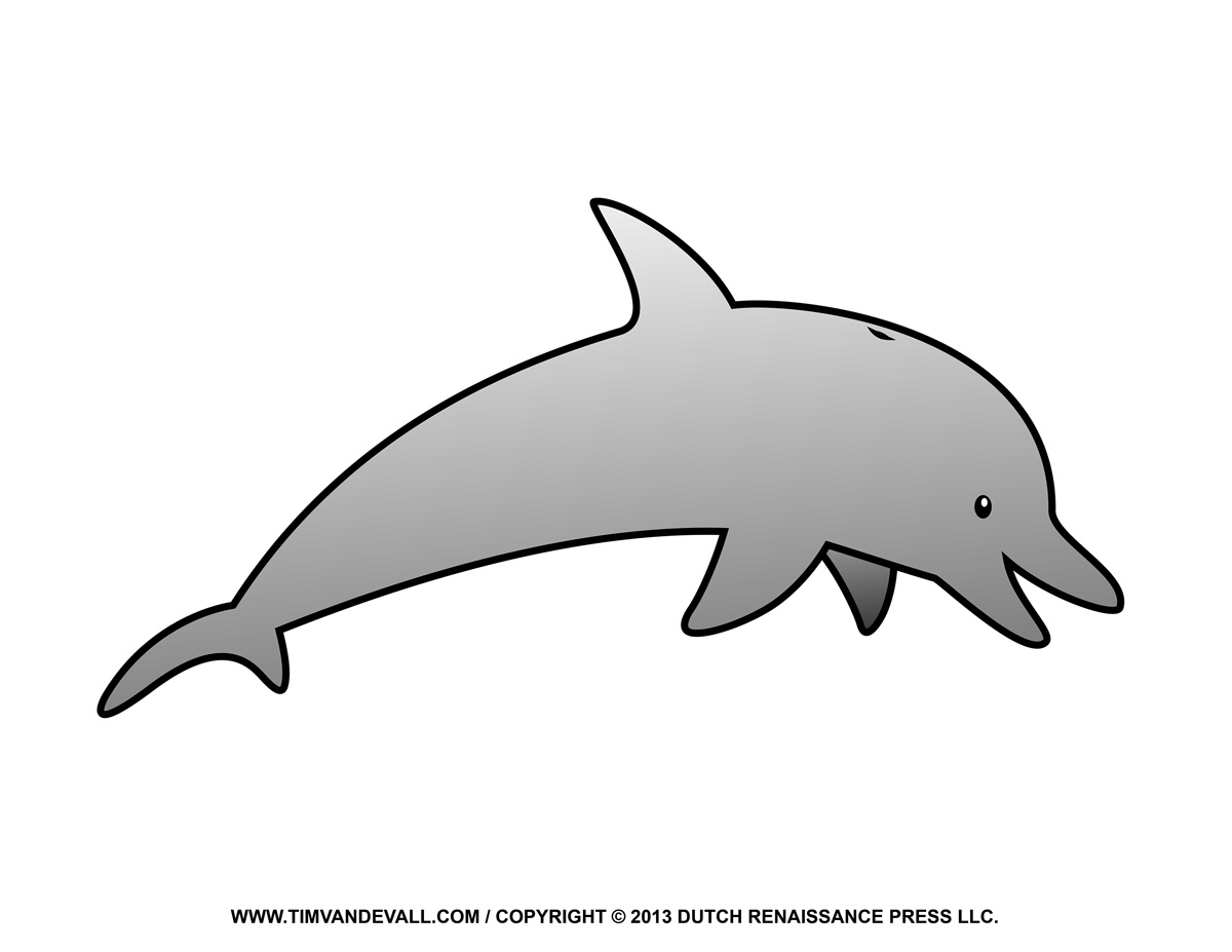Dolphin Outline Printable