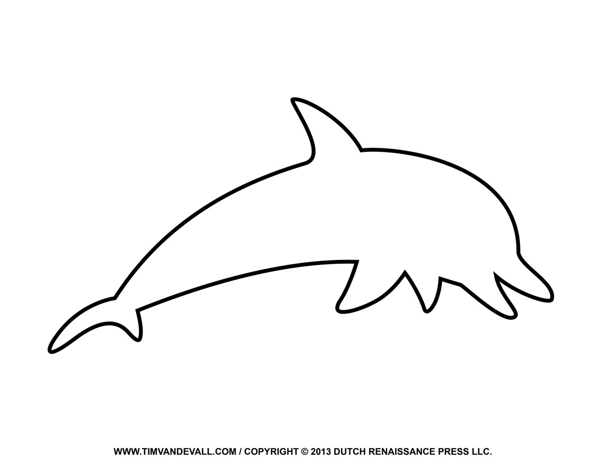 Free dolphin clipart printable coloring pages outline silhouette rh timvandevall a diagram of dolphin amazon